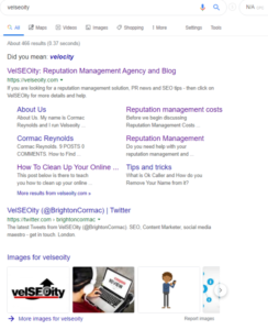 bury negative search results with velseoity